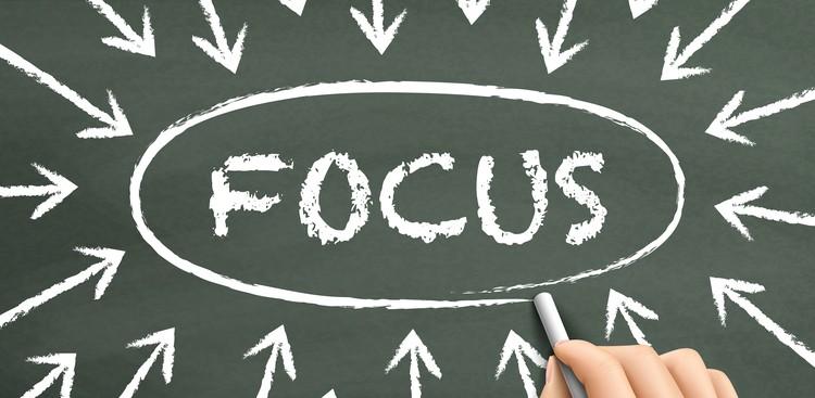 Focus on chalkboard
