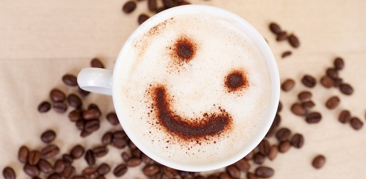 Smiling cappuccino