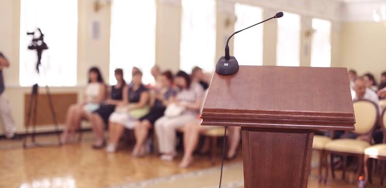 speech podium microphone