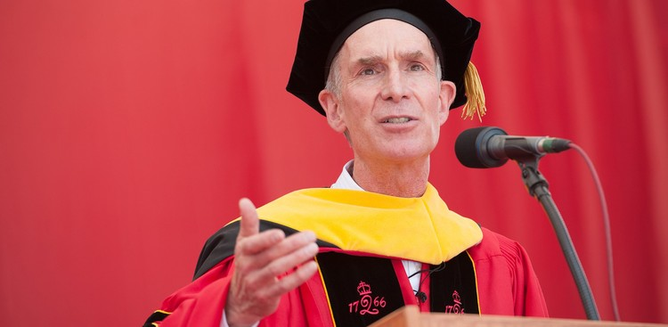 Bill Nye speaking at Rutgers Commencement