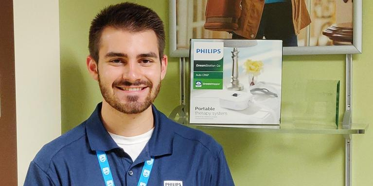 Kevin Litzinger, a mechanical engineering intern at Philips