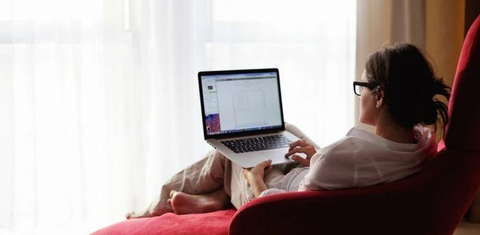 person with laptop