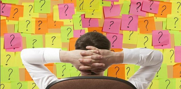 question mark sticky notes