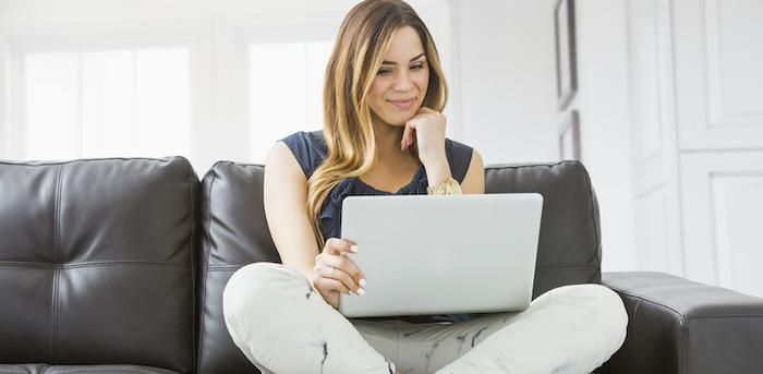 person on laptop
