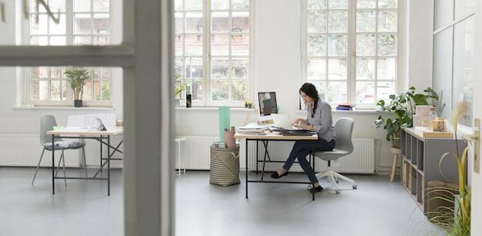person working at desk