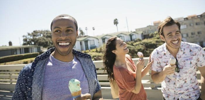 friends eating ice cream
