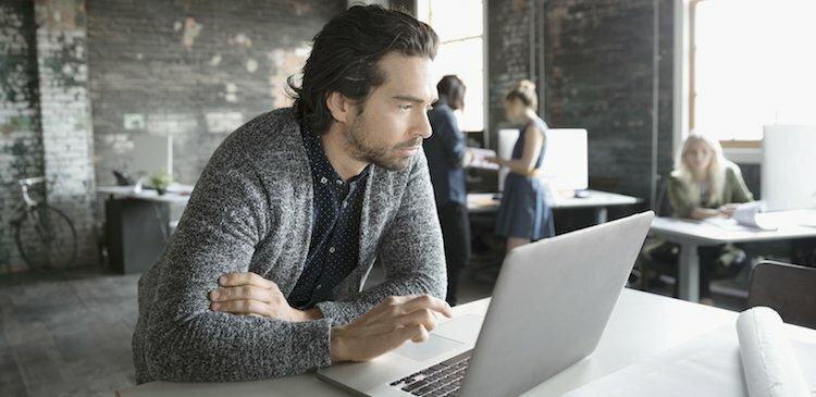 person at computer
