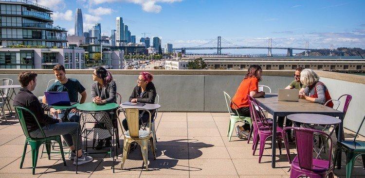 employees at Cisco Meraki's San Francisco office