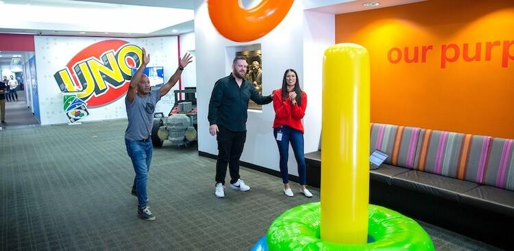 employees in Mattel's El Segundo, CA, office