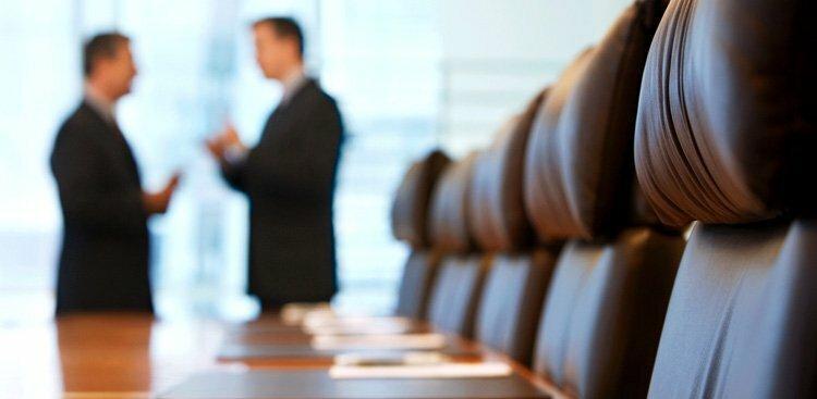 executives talking