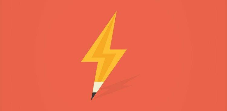 Photo of pencil lightning bolt