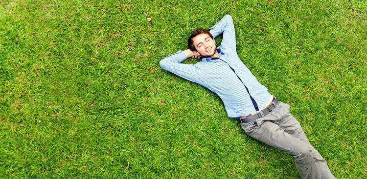 person on grass