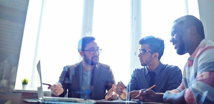 Photo of team meeting