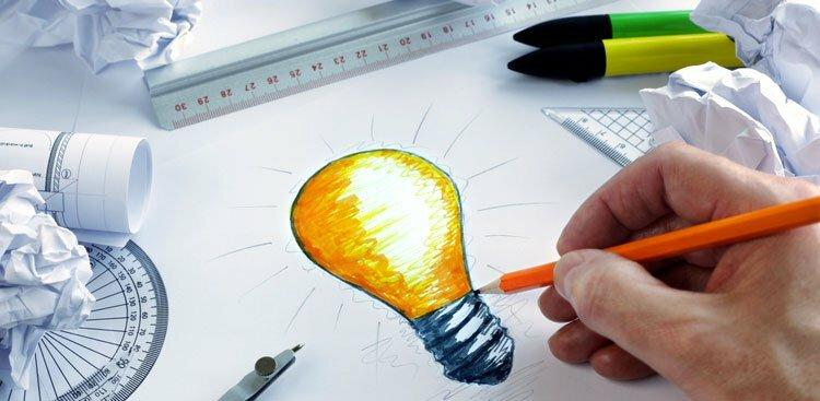 drawing lightbulb