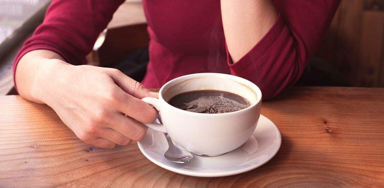 person with coffee