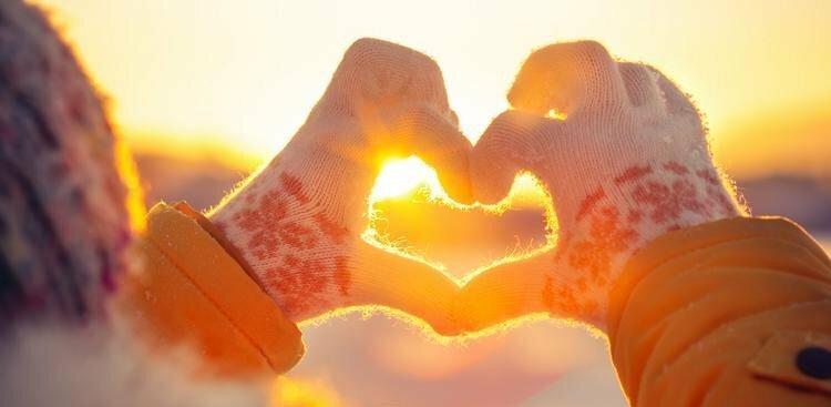 gloved hands making a heart