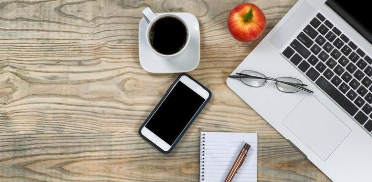 organized, clutter-free desk