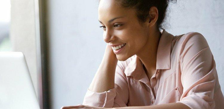 young woman job searching