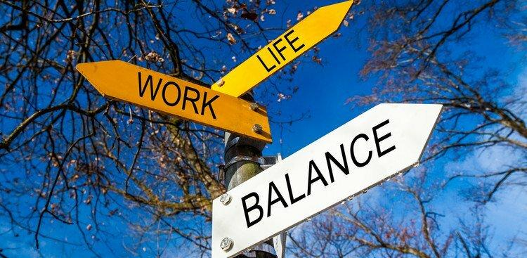 work, life, and balance signs