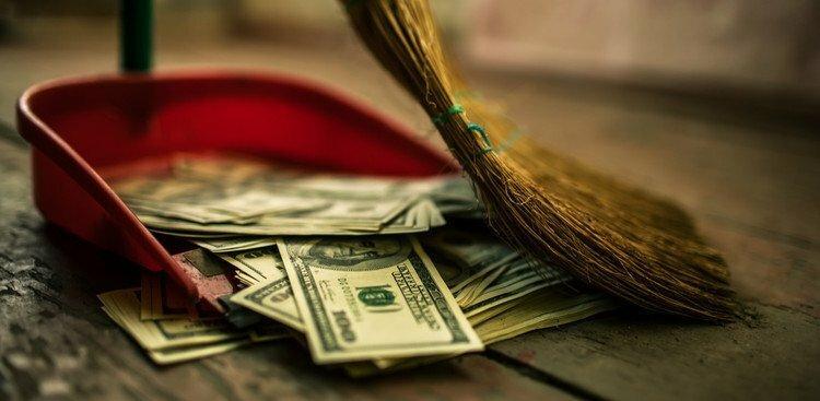 cash on the floor