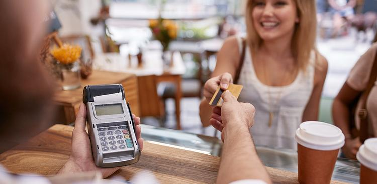 person paying