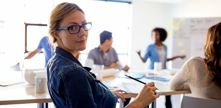 Photo of woman in meeting