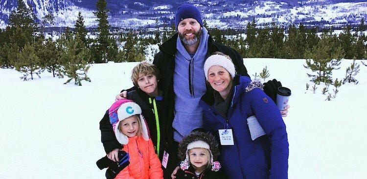 Brett Relander and his family