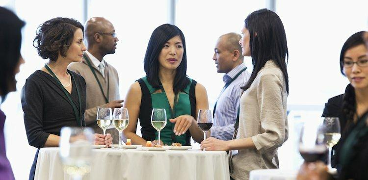 people at networking event