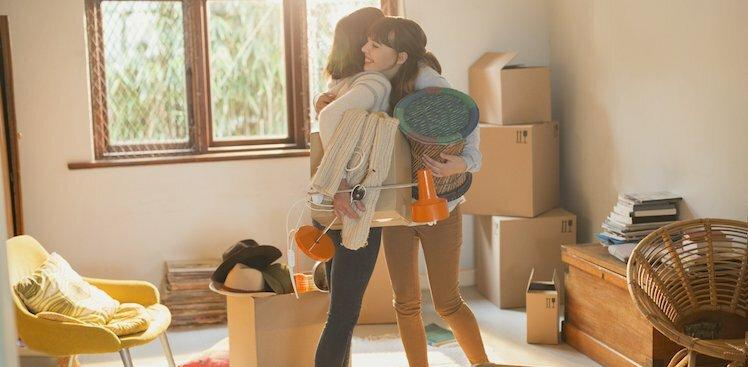 photo of woman packing