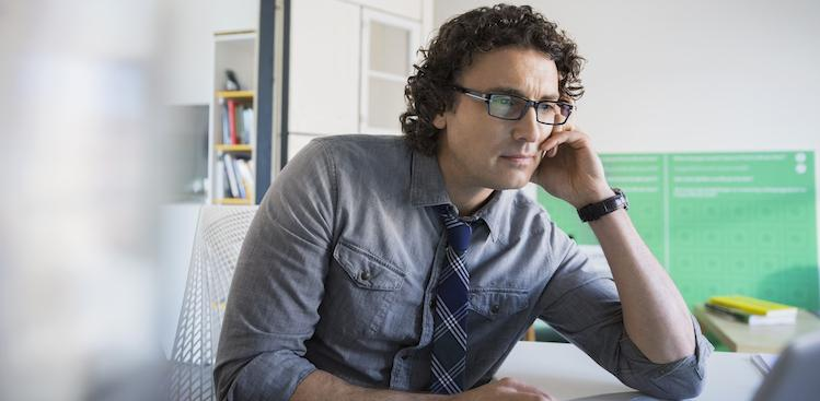 man looking at inbox courtesy Hero Images/Getty Images