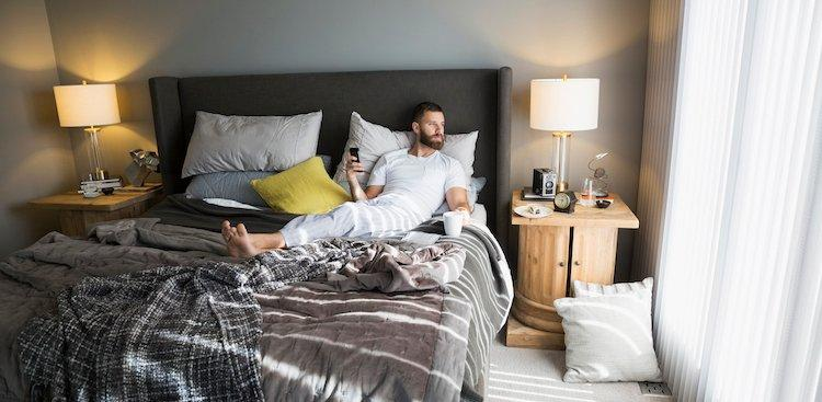 person relaxing