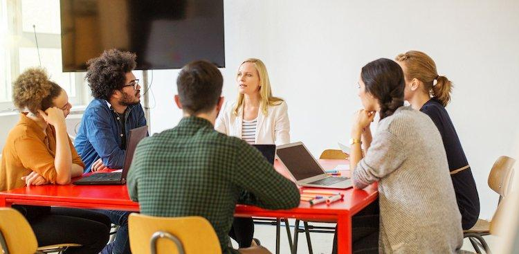 group of people in office