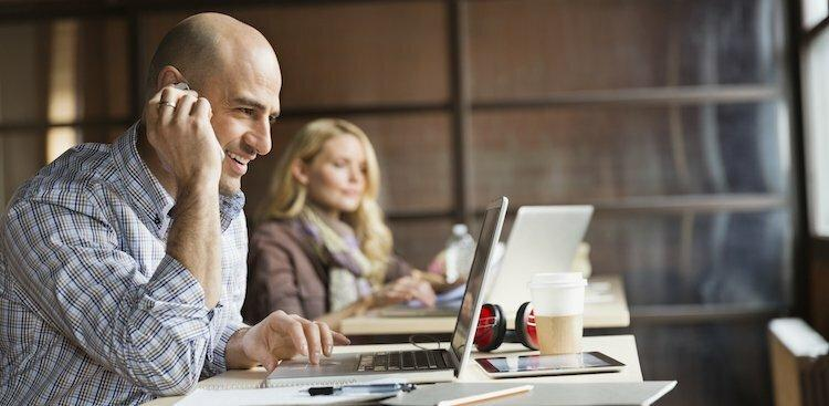 photo of people on computers