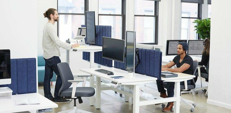 photo of people working at desks
