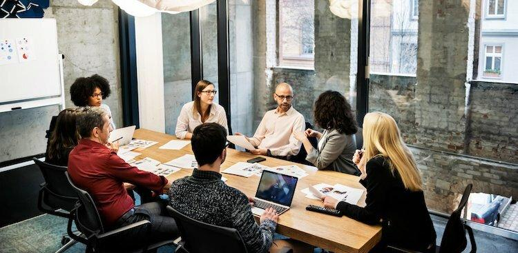 people in conference room