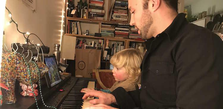 Ilya and Dan at the piano