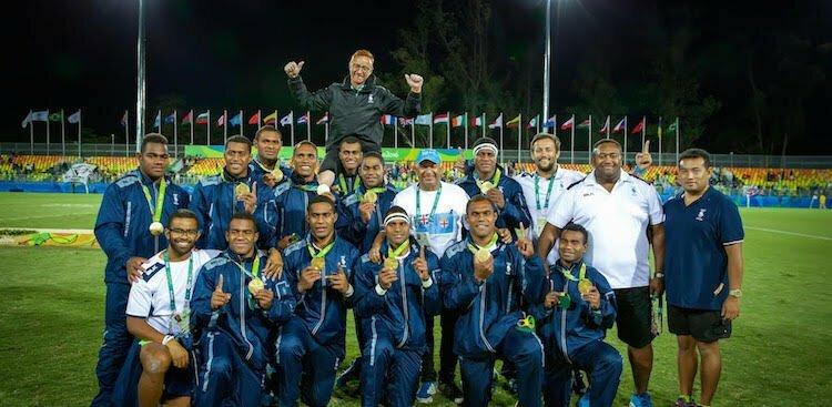 Ben Ryan and the Fiji rugby team