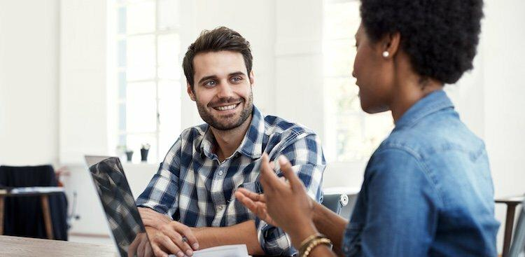 person in interview talking