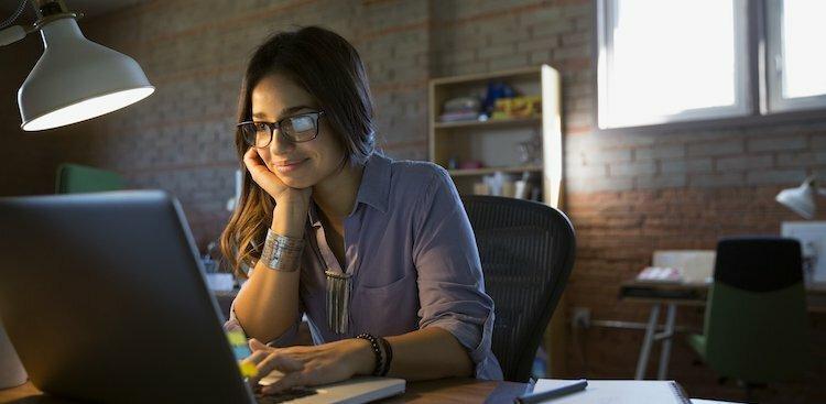 person at desk