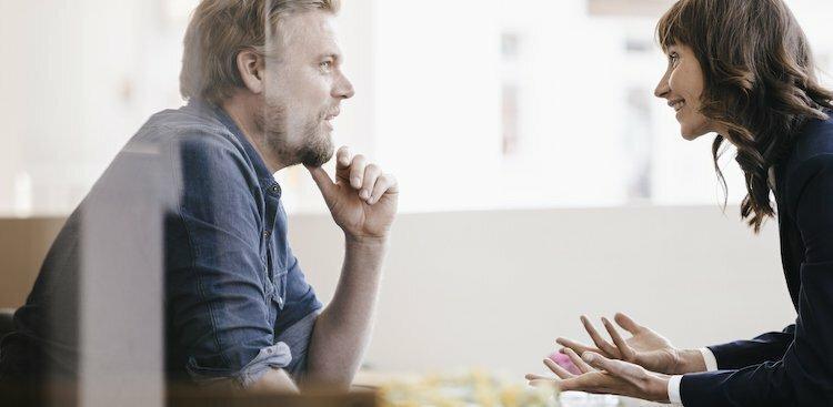 mentors talking