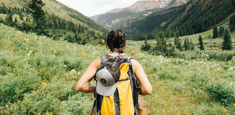 person hiking