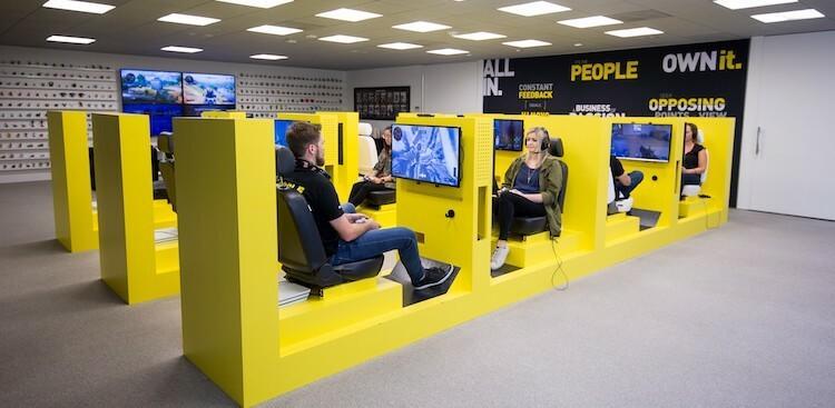 employees at Activision's Santa Monica, CA, headquarters