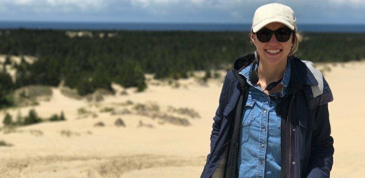 Laura Eshelman on a Travel Channel shoot