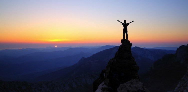 person on mountain