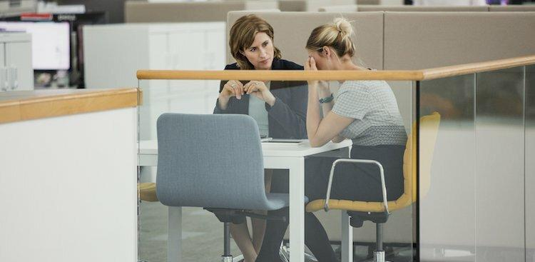 person crying in meeting