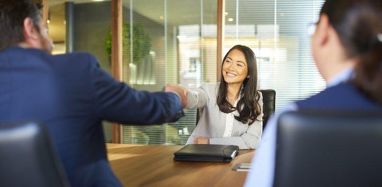 person in job interview