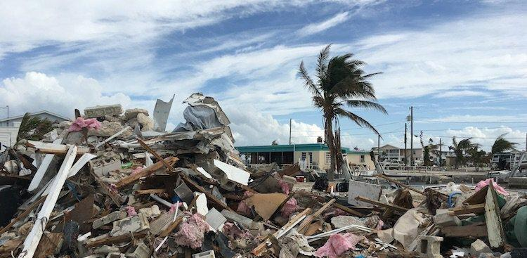 damage left in the wake of Hurricane Irma