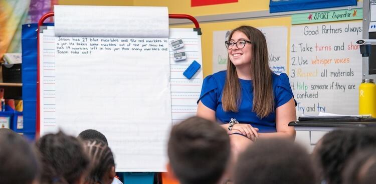 Morgan Hamerman in her second-grade classroom