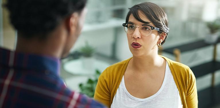 tense conversation