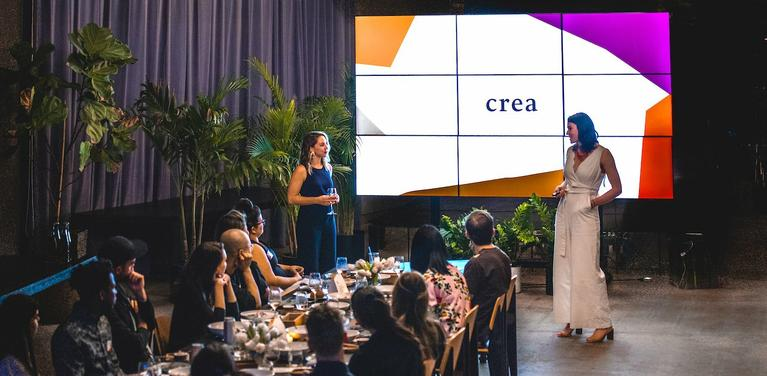 Crea co-founders at launch event